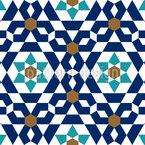 Arabic Mosaic Seamless Vector Pattern Design
