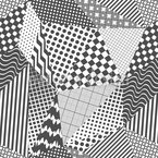 Patchwork Monochrom Nahtloses Vektormuster