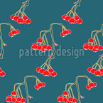 Hanging Cherries Vector Pattern