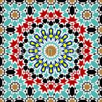 アラブ美術 シームレスなベクトルパターン設計