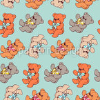 Teddy Bear Seamless Vector Pattern Design