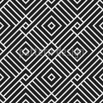Ineinander greifende Quadrate Musterdesign