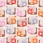 Funky Blumenornamente Designmuster