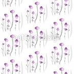 Mädchenhaft Zarte Blumen Nahtloses Vektormuster