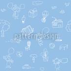 Superamiguinhos Design de padrão vetorial sem costura