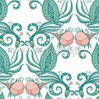 Viktorianische Blumen Nahtloses Vektormuster