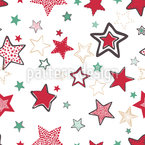 Hand Drawn Stars Seamless Vector Pattern Design
