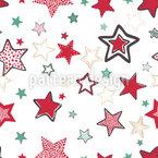Handgezeichnete Sterne Nahtloses Vektormuster