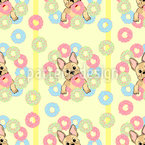 French Bulldogs And Donuts Vector Design