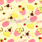 Candy Princess Seamless Vector Pattern Design