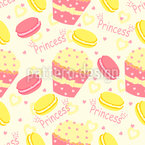 Cupcake Princess Seamless Vector Pattern Design