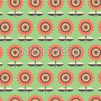 Grafische Blumen Musterdesign