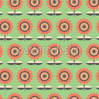 Graphical Flowers Pattern Design