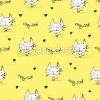 Modern Hand-drawn Cats Design Pattern