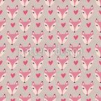 Niedliche Fuchs Damen Vektor Muster