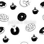 Heiße Donuts Nahtloses Vektormuster