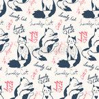 Heart Cats Pattern Design
