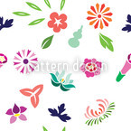 Japanese Spring Seamless Vector Pattern Design