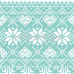 Pixel Winter Seamless Vector Pattern