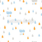 Забавный дождь Бесшовный дизайн векторных узоров