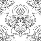 Persian Flower Zentangle Seamless Vector Pattern Design