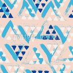 Pinselstrich Dreiecke Rapportiertes Design