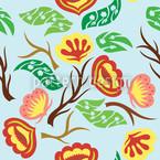 Blütensturm Fantasia Nahtloses Muster