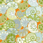 Tiny Snail Shells Seamless Vector Pattern Design