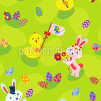 Easter Holidays With Friends Seamless Vector Pattern