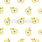 Falling Apples Seamless Vector Pattern Design