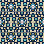 Moroccan Star Mosaic Design Pattern