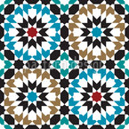 Marokkanische Kunst Nahtloses Vektormuster