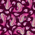 Fische Und Blütenblätter Vektor Design
