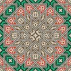 Islamic Blossoms Seamless Vector Pattern Design