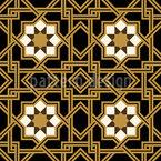 Ineinandergreifende Sterne Nahtloses Muster