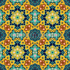 Floral Persian Splendor Seamless Vector Pattern
