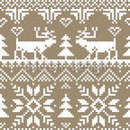 Winter Gold Seamless Vector Pattern Design
