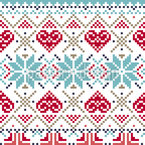 Winter Love Seamless Vector Pattern Design