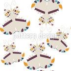 Grafische Schmetterlinge Vektor Ornament