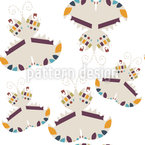 Graphical Butterflies Vector Ornament