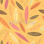 Funny Falling Autumn Leaves Vector Pattern