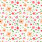 Blumenduft Rapportiertes Design