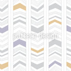 Modern Arrow Stripes Vector Ornament