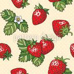 Erdbeerliebe Nahtloses Vektormuster