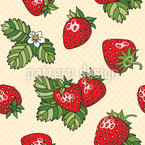 Strawberry Love Seamless Vector Pattern Design