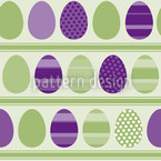 Green Easteregg Stripes Seamless Vector Pattern Design