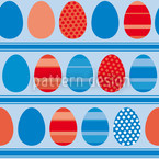 Blue Easteregg Stripes Repeat