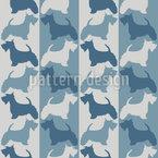 Scottish-Terrier Auf Streifen Muster Design