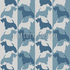 Scottish-Terrier On Stripes Seamless Vector Pattern Design