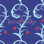 Flourish Berries Seamless Vector Pattern Design